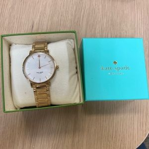 Kate Spade Mother of Pearl Gold Watch